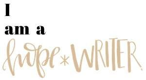 Hope Writer, christian writer